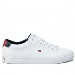 TOMMY HILFIGER SNEAKER PIEL HOMBRE ESSENTIAL LEATHER COLLAR VULC FM0FM02577 WHITE YBR TOM065