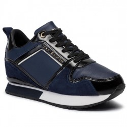 TOMMY HILFIGER DEPORTIVA CUÑA MUJER LEATHER WEDGE SNEAKER FW0FW04420 NAVY CBK TOM062