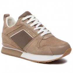 TOMMY HILFIGER DEPORTIVA CUÑA MUJER MIX MATERIAL WEDGE SNEAKER FW0FW04421 TIGER'S EYE GEZ TOM064