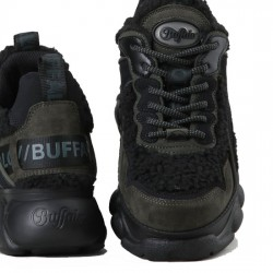 BUFFALO CHAI SNEAKER TELA DE PELUCHE MUJER CLD CHAI TEDDY BLACK BUFF002