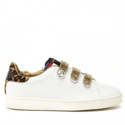 SERAFINI JIMMY CONNORS - WHITE & LEOPARD HAIR CALF AI17DJCO10