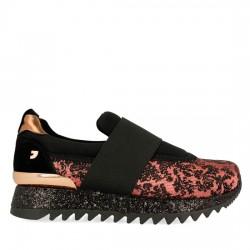 GIOSEPPO Sneakers estilo slip on en coral para mujer 41089