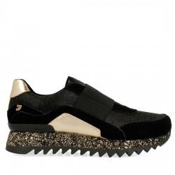 GIOSEPPO Sneakers estilo slip on con diferentes texturas en negro 41072