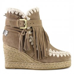 MOU eskimo jute wedge belts and buckles suede