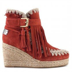 MOU eskimo jute wedge belts and buckles suede MOU002
