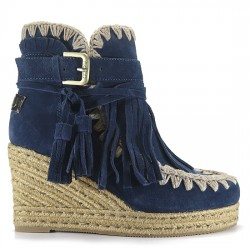 MOU eskimo jute wedge belts and buckles suede DPBL MARINO MOU032