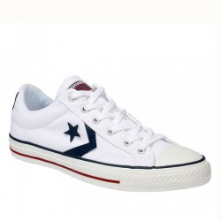 CONVERSE STAR PLAYER OX 144151C WHITE/WHITE/NAVY CON017