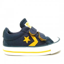 CONVERSE STAR PLAYER EV 2V OX 760035C NAVY/MINERAL YELLW/WHITE CON025
