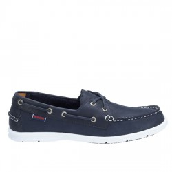 SEBAGO Litesides Two Eye NAVY LEATHER   864065000-B4  SEB002