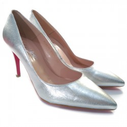 ALBO ORIGINALS STILETTO PIEL METALIZADO 958242 31601 PLATA ALBO035