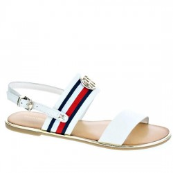 TOMMY HILFIGER FLAT SANDAL CORPORATE RIBBON FW0FW02811 BLANCO TOM015