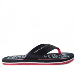 TOMMY HILFIGER CHANCLAS TIRA AZUL FW0FW01371 BLACK/BLUE TOM020