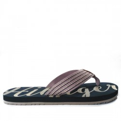 TOMMY HILFIGER CHANCLAS LETRAS DORADAS FW0FW02372 MIDNIGHT TOM018