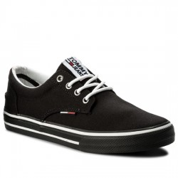 TOMMY HILFIGER LONA JEANS Tommy Jeans Textile Sneaker EM0EM00001 Black 990 TOM028