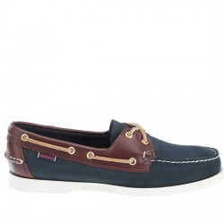 SEBAGO ZAPATO NAUTICO HOMBRE PIEL DOCKSIDES SPINNAKER B72852 BLUE / BROWN LEATHER SEB003