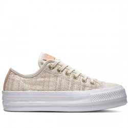 CONVERSE CHUCK TAYLOR ALL STAR LIFT - OX 560655C Driftwood/Driftwood/White CON046