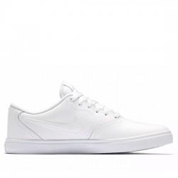 NIKE SB Zapatillas de skateboard - Hombre Check Solarsoft 843895-102 Blanco/Gris vasto/Blanco NIKE058