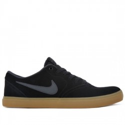 NIKE SB Zapatillas de skateboard - Hombre Check Solarsoft 843895-003 Black/Anthracite NIKE060