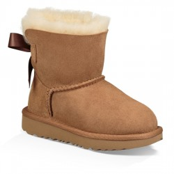 UGG MINI BAILEY BOW II BOOT KIDS 1017397 CHESTNUT CAMEL UGG021