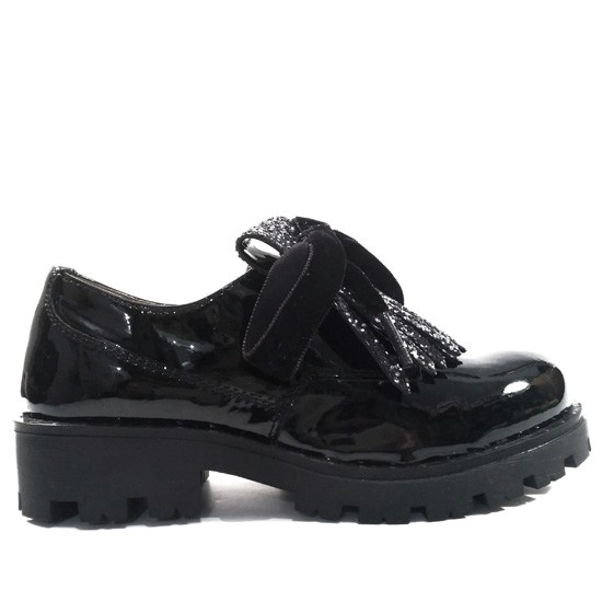 Peral Charol Glitter Unisa Y Unis002 Black Niña Zapato Pa OkuiXPZ