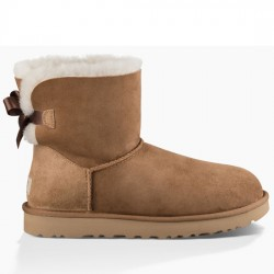 UGG MINI BAILEY BOW II BOOT WOMAN 1016501 CHESTNUT CAMEL UGG025