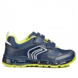 GEOX RESPIRA DEPORTIVO LUCES VELCRO J ANDROID B. A J8444A 0BU11 C0749 NAVY/LIME GEOX026