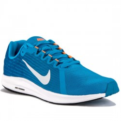 NIKE DOWNSHIFTER 8 - 908984 403 DEPORTIVO RUNNIG BLUE HERO/FOOTBALL GREY TURQUESA NIKE064
