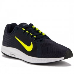 NIKE DOWNSHIFTER 8 - 908984 007 DEPORTIVO RUNNIG LIGHT CARBON/VOLT-OBSIDIAN MARINO NIKE062