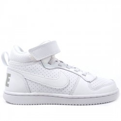 NIKE COURT BOROUGH MID 870026-100 DEPORTIVO PIEL WHITE/WHITE BLANCO NIKE067