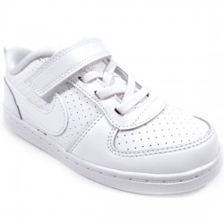 NIKE COURT BOROUGH LOW 870029-100 DEPORTIVO PIEL WHITE/WHITE BLANCO NIKE068