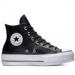 CONVERSE CHUCK TAYLOR ALL STAR LIFT CLEAN - HI 561675C BLACK/Black/WHITHE CON048