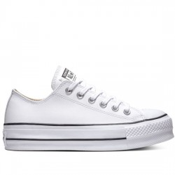 CONVERSE CHUCK TAYLOR ALL STAR LIFT CLEAN - OX 561680C White/Black/White CON049