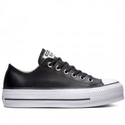 CONVERSE CHUCK TAYLOR ALL STAR LIFT CLEAN - OX 561681C Black/Black/White CON050