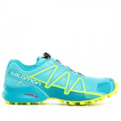 SALOMON ZAPATILLAS TRAIL MUJER SPEEDCROSS 4 W 401247 BLUE CURACAO/BLUEBIRD/ACID LIME TURQUESA SAL020