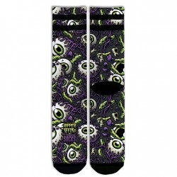 AMERICAN SOCKS PSYCHO EYEBALLS BY RIPPER SEEDS - MID HIGH AS061 AS062