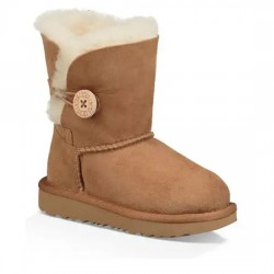UGG BOTAS NIÑOS Bailey Button II Boot Toddler WATER-RESISTANT 1017400T CHESTNUT UGG031