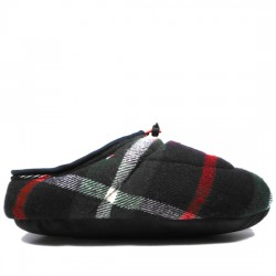 TOMMY HILFIGER ZAPATILLAS DOWNSLIPPERS FW86813318 CUADROS MIDNIGHT/GREEN TOM042