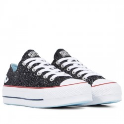 CONVERSE x CHIARA FERRAGNI CHUCK TAYLOR ALL STAR LIFT LOW TOP 563834C BLACK CON053