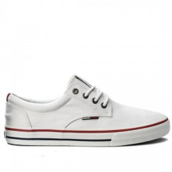 TOMMY HILFIGER LONA JEANS Tommy Jeans Textile Sneaker EM0EM00001 WHITE TOM043