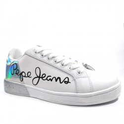 PEPE JEANS DEPORTIVAS MUJER 'BROMPTON MANIA' STYLE PLS30864 800 WHITE PPJ007