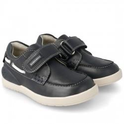BIOMECANICS Zapato náutico de piel para niño Ibai 182174-A-25 MARINO BIOM018