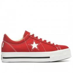 CONVERSE ONE STAR PLATFORM - OX 564032C GYM RED/WHITE/DARK OBSIDIAN CON062