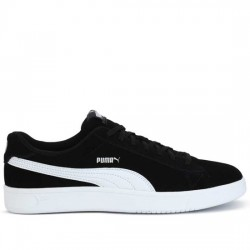 PUMA SOFT-FOAM COURT BREAKER DERBY 367366 01 SNEAKER SERRAJE BLACK/WHITE PUMA007