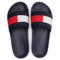 TOMMY HILFIGER PALA HOMBRE ESSENTIAL FLAG POOL SLIDE FM0FM02327 RWB MARINO TOM053