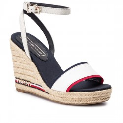TOMMY HILFIGER SANDALIA ALPARGATA ICONIC ELENA CORPORATE RIBBON FW0FW04075 RWB 020 TOM059