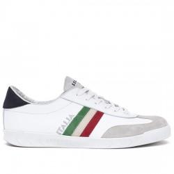 SERAFINI SNEAKER PIEL HOMBRE PE19UFG50 FLAT GOLD ITALIA - WHITE SER013