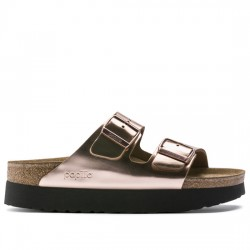 PAPILLIO BY BIRKENSTOCK SANDALIA MUJER ARIZONA CUERO NATURAL 1013570 METALLIC COPPER BIR032