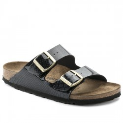 BIRKENSTOCK SANDALIA MUJER ARIZONA BIRKO-FLOR 1009125 MAGIC SNAKE BLACK BIR029