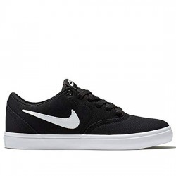 NIKE SB ZAPATILLA LONA SKATEBOARD CHECK SOLAR CANVAS WMNS 921463 101 BLACK/WHITE-PURE PLATINUM NIKE098