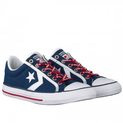 CONVERSE STAR PLAYER EV OX 663989C NAVY/WHITE/GYM RED CON065
